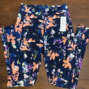 NWT Pop Fit Full length leggings, w/ pockets, lg
